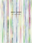 2021-2025 Five Year Planner: Large 60-Month Monthly Planner with Colorful Stripes (Hardcover) Cover Image
