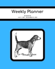 Weekly Planner: Beagle; 18 months; July 1, 2019 - December 31, 2020; 8