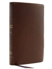 Nkjv, Thinline Reference Bible, Large Print, Premium Goatskin Leather, Brown, Premier Collection, Comfort Print Cover Image