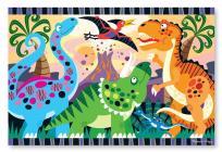 Dinosaur Dawn Floor Puzzle (24 PC) Cover Image