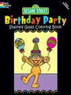 Sesame Street Birthday Party Stained Glass Coloring Book Cover Image