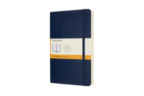 Moleskine Notebook, Expanded, Large, Ruled, Sapphire Blue, Soft Cover (5 x 8.25) Cover Image