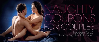 Naughty Coupons for Couples: Redeem for 23 Steamy Nights of Pleasure (9781612431260) Cover Image