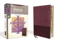 Nrsv, Thinline Reference Bible, Leathersoft, Burgundy, Indexed, Comfort Print Cover Image