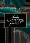 Daily Gratitude Journal: (Green Leaves with Black and Gold Background) A 52-Week Guide to Becoming Grateful Cover Image