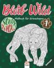 Bleib Wild 1 - Nachtausgabe: Malbuch für Erwachsene (Mandalas) - Band 1 - Anti-Stress - 27 Bilder zum Ausmalen Cover Image