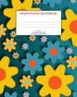 Graph Paper Notebook: Flowers; 5 squares per inch; 100 sheets/200 pages; 8 x 10 Cover Image