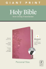 NLT Personal Size Giant Print Bible, Filament Enabled Edition (Red Letter, Leatherlike, Peony Pink, Indexed) Cover Image