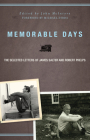 Memorable Days: The Selected Letters of James Salter and Robert Phelps Cover Image