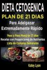 Dieta Cetogénica Plan de 21 Días Para Adelgazar: Paso a Paso Menú de 21 Días, Recetas Con Proporciones de Nutrientes Incluidos Y La Lista de Compras S Cover Image