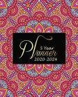 5 year planner 2020-2024: Beauty Mandala Cover Monthly Calendar Schedule Organizer (60 Months) For The Next Five Years With Holidays and inspira Cover Image