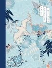 Kanji Practice Notebook: Crane and Flower Cover - Japanese Kanji Practice Paper - Writing Workbook for Students and Beginners - Genkouyoushi No Cover Image