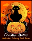 Creative Haven Halloween Coloring Book Disney: Best Halloween Designs Including Witches, Ghosts, Pumpkins, Vampires, Haunted Houses, Zombies, Skulls, Cover Image