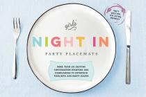 Girls' Night In Party Placemats: More than 375 exciting conversation starters and icebreakers to entertain your BFFs and party guests Cover Image