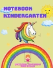 Notebook Kindergarten: Unicorn, rainbow and bills, initial arithmetic and coloring book. Learning through play Cover Image