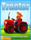 Tractor Libro Para Colorear Para Niños Cover Image