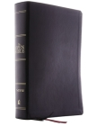 The Niv, Open Bible, Leathersoft, Black, Thumb Indexed, Red Letter Edition, Comfort Print: Complete Reference System Cover Image