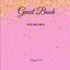 Guest Book- Pastel Pink - For any occasion - 66 color pages -8.5x8.5 Inch Cover Image