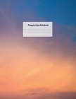 Composition Notebook: Wide Ruled Lined Paper: Large Size 8.5x11 Inches, 110 pages. Notebook Journal: Orange Aesthetic Sunset Workbook for Pr Cover Image