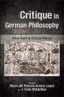 Critique in German Philosophy: From Kant to Critical Theory (Suny Series) Cover Image