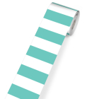 Simply Stylish Turquoise Stripe Rolled Straight Borders Cover Image