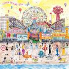 Michael Storrings Summer at the Amusement Park 500 Piece Puzzle Cover Image