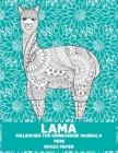 Malbücher für Erwachsene Mandala - Dickes Papier - Tiere - Lama Cover Image