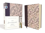 NIV, Journal the Word Bible, Cloth Over Board, Pink Floral, Red Letter Edition, Comfort Print: Reflect, Take Notes, or Create Art Next to Your Favorit Cover Image