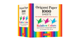 Origami Paper Rainbow Colors 1,000 Sheets 4 (10 CM): Tuttle Origami Paper: High-Quality Double-Sided Origami Sheets Printed with 12 Different Color Co Cover Image
