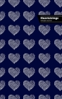 Heartstrings Lifestyle Journal, Blank Notebook, Dotted Lines, 288 Pages, Wide Ruled, 6 x 9 (A5) Hardcover (Blue) Cover Image