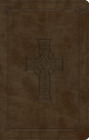 Large Print Value Thinline Bible-ESV-Cross Design Cover Image