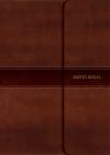 NVI Biblia Letra Súper Gigante marrón, símil piel con solapa con imán Cover Image