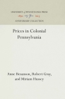Prices in Colonial Pennsylvania (Industrial Research Department) Cover Image