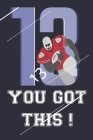 American Football Dot Graph, You Got This,: Football Fan Notebook, Dot Graph 120 Pages; 6x9; Soft Cover; Matte finish Cover Image