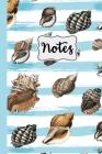 Notes: Seashells Blue and White Stripes Nautical 6