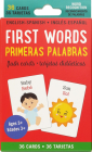 Bilingual First Words Flash Cards (English/Spanish) Cover Image