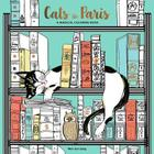 Cats in Paris: A Magical Coloring Book Cover Image
