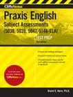 CliffsNotes Praxis English Subject Assessments, 3rd Edition: (5038, 5039, 5047, 5146-ELA) Cover Image
