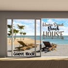 Home Sweet Beach House-Guest Book Cover Image