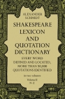 Shakespeare Lexicon and Quotation Dictionary, Vol. 2, Volume 2 Cover Image