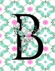 Cornell Notes Notebook: Floral Monogram B - Large 8.5