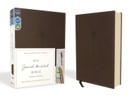 NIV, Journal the Word Bible, Imitation Leather, Brown, Red Letter Edition, Comfort Print: Reflect, Take Notes, or Create Art Next to Your Favorite Ver Cover Image