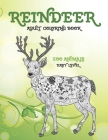 Reindeer - Adult Coloring Book - Zoo Animals - Easy Level Cover Image