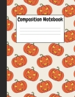 Composition Notebook: Halloween Pumpkins Themes Style 2, 8.5