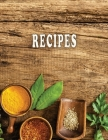Low Vision Recipe Book Large Print With Bold Lines: Personal Cookbook With High Contrast Black Print on White Paper for Visually Impaired Cover Image