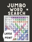 Jumbo Word Search Large Print: Search A Word Game Book for Adults - Word Search for Adults - Puzzle Activity Book ( Brain Games ) Cover Image