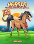 Horses Coloring Book Cover Image