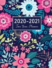 2020-2021 Two Year Planner: Flower Watecolor Cover - 2 Year Calendar 2020-2021 Monthly - 24 Months Agenda Planner with Holiday - Personal Appointm Cover Image