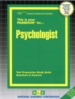 Psychologist: Passbooks Study Guide (Career Examination Series) Cover Image
