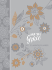 Amazing Grace Gray 2021 Planner: 12 Month Ziparound Planner Cover Image